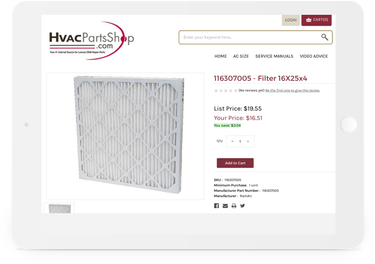 Hvacparts Article Secondary