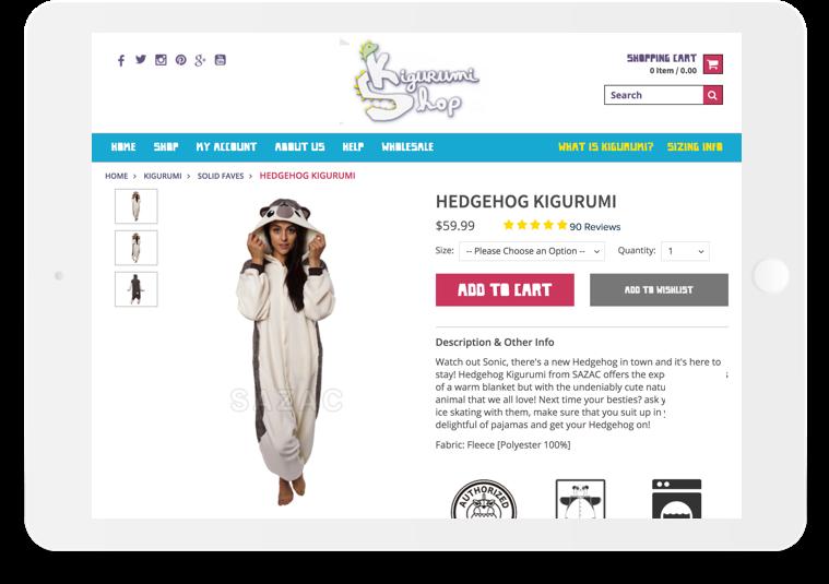 Kigurumi Shop Article Secondary