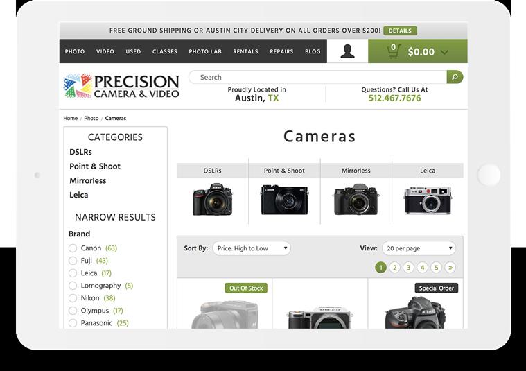 Bigcommerce Precision Camera Filter