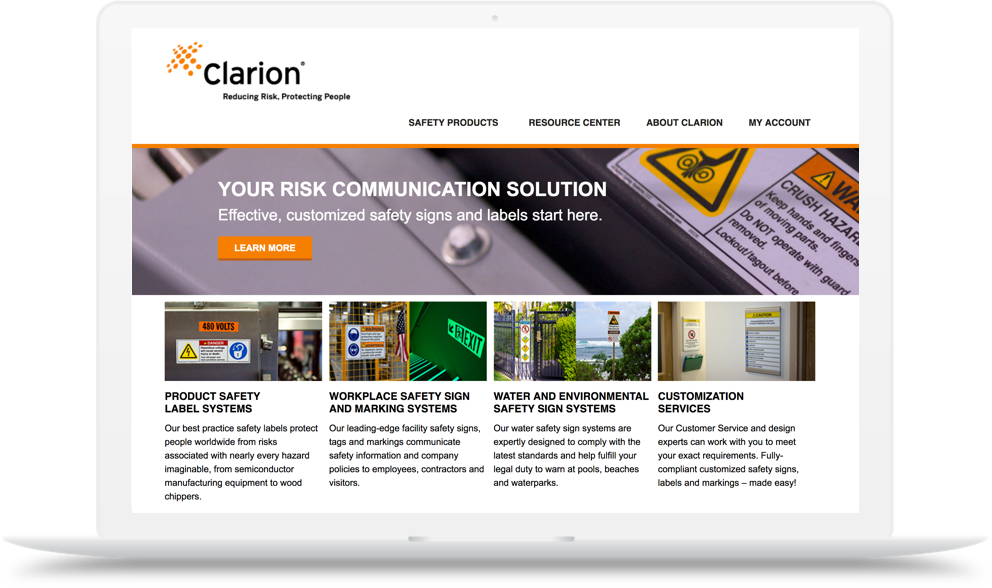 Clarion Safety Main Hero